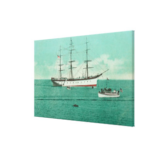 View of the Balboa and the Sinaloa Entering Stretched Canvas Prints
