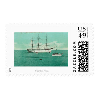 View of the Balboa and the Sinaloa Entering Stamps