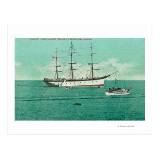 View of the Balboa and the Sinaloa Entering Postcard