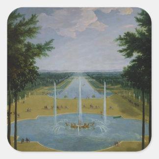 View of the Bassin d'Apollon Square Sticker
