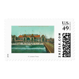 View of the Bathing Pavilion and Electric Pier Postage Stamp