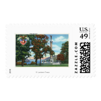 View of the Battle Monument Postage