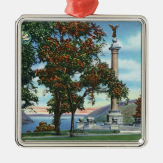 View of the Battle Monument Square Metal Christmas Ornament
