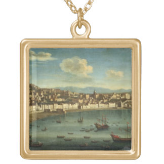 View of The Bay of Naples from the Bay of Chiaia ( Gold Plated Necklace