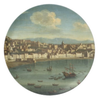 View of The Bay of Naples from the Bay of Chiaia ( Party Plate