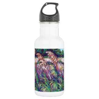 view of the bay stainless steel water bottle