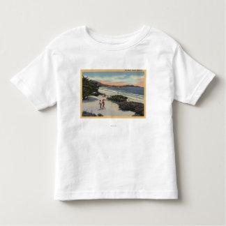 View of the Beach, Sunbathers Walking Toddler T-shirt