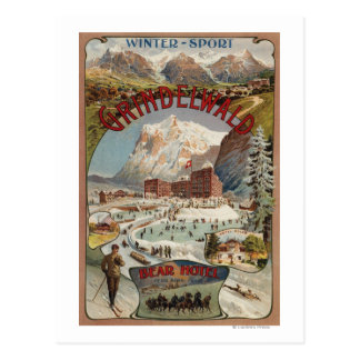 View of the Bear Hotel Promotional Poster Postcard