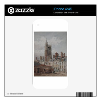 View of the belfry of Orleans by Theodore Rousseau iPhone 4S Skin