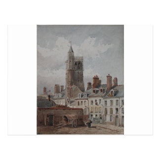 View of the belfry of Orleans by Theodore Rousseau Postcard