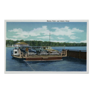View of the Bemus Point and Stow Ferry Poster