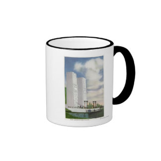 View of the Boat Landing and Pylons Mugs