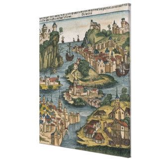 View of the Bosporus entering from the Black Sea, Canvas Print