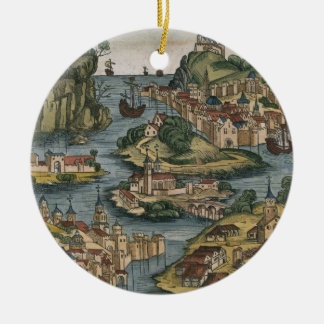 View of the Bosporus entering from the Black Sea, Ceramic Ornament
