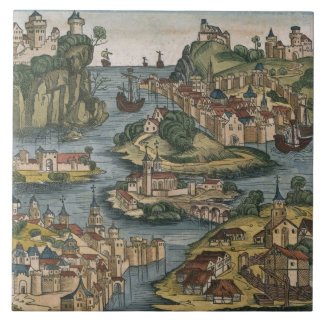 View of the Bosporus entering from the Black Sea, Ceramic Tile