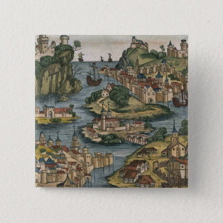 View of the Bosporus entering from the Black Sea, Pinback Button