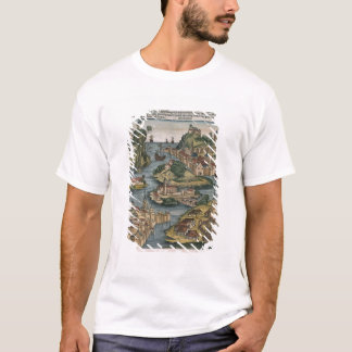 View of the Bosporus entering from the Black Sea, T-Shirt
