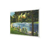 View of the Boston Common Frog Pond Canvas Print