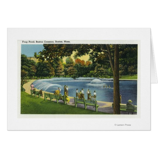 View of the Boston Common Frog Pond Card