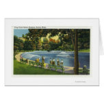 View of the Boston Common Frog Pond Greeting Card