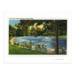 View of the Boston Common Frog Pond Postcard