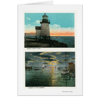 View of the Brant Point Lighthouse Card