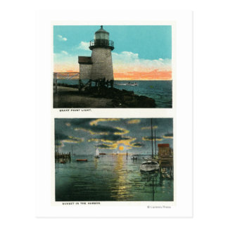 View of the Brant Point Lighthouse Postcard