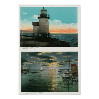 View of the Brant Point Lighthouse Print