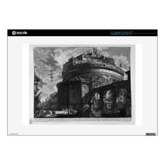 """View of the Bridge and Castle St. Angel by Giovann 15"""" Laptop Decal"""