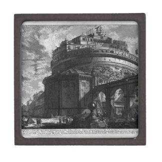 View of the Bridge and Castle St. Angel by Giovann Keepsake Box