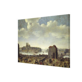 View of the Bridge and Quai de la Tournelle Canvas Print