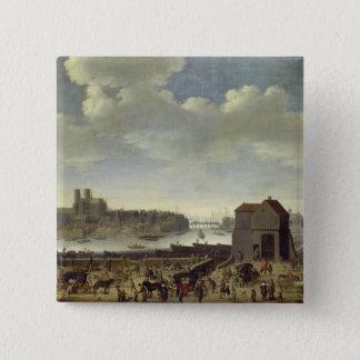View of the Bridge and Quai de la Tournelle Pinback Button