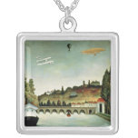 View of the Bridge at Sevres Square Pendant Necklace