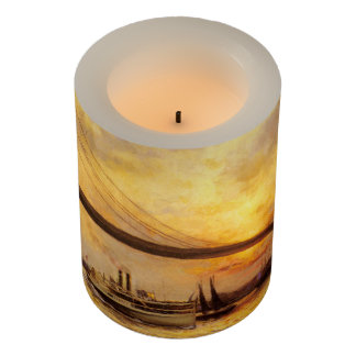 View of The Brooklyn Bridge by Emile Renouf Flameless Candle