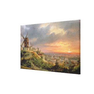 View of the Butte Montmartre, c.1830 Canvas Print