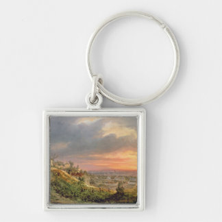 View of the Butte Montmartre, c.1830 Key Chains