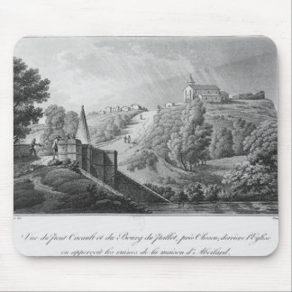 View of the Cacault bridge and village of Mouse Pad