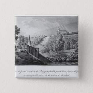 View of the Cacault bridge and village of Pinback Button