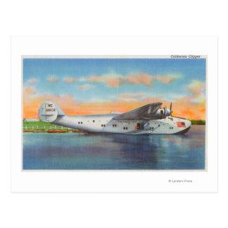 View of the California Clipper Plane Postcard