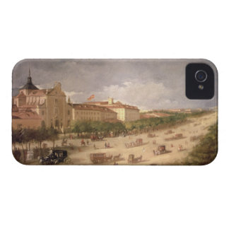 View of the Calle de Alcala, Madrid (oil on canvas iPhone 4 Case-Mate Case