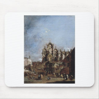 View of the Campo San Zanipolo in Venice Francesco Mouse Pad