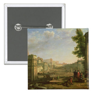 View of the Campo Vaccino, Rome, 1636 Button