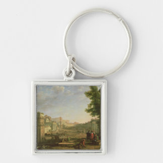 View of the Campo Vaccino, Rome, 1636 Keychain