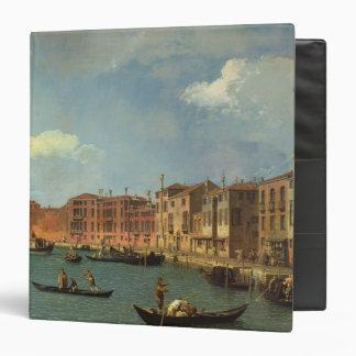 View of the Canal of Santa Chiara, Venice 3 Ring Binder