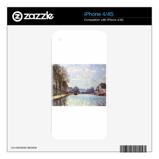 View of the Canal Saint Martin by Alfred Sisley iPhone 4S Decal