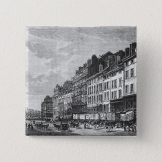 View of the Canebiere at Marseilles Pinback Button