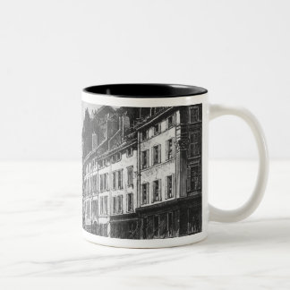 View of the Canebiere at Marseilles Two-Tone Coffee Mug