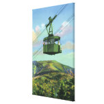 View of the Cannon Mt Tram Ascending Stretched Canvas Prints