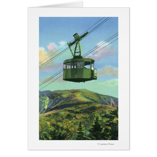 View of the Cannon Mt Tram Ascending Card