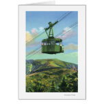 View of the Cannon Mt Tram Ascending Greeting Card